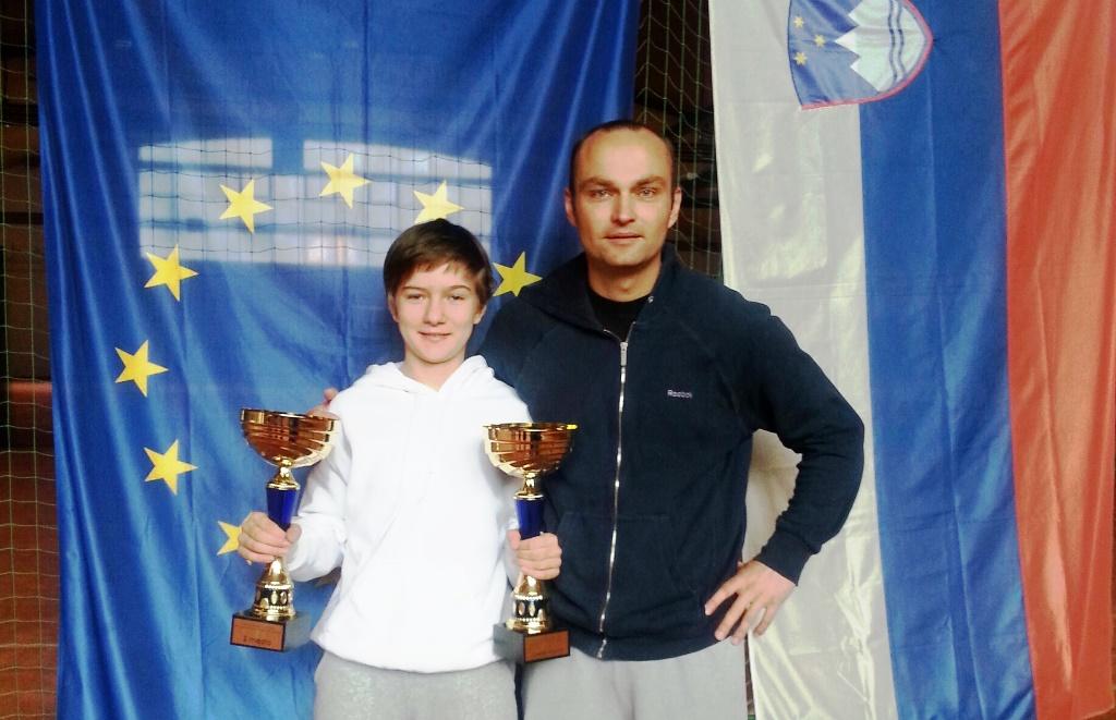 Živa Falkner, državna podprvakinja in prvakinja