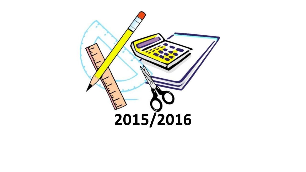 Seznam potrebščin za šolsko leto 2015/16