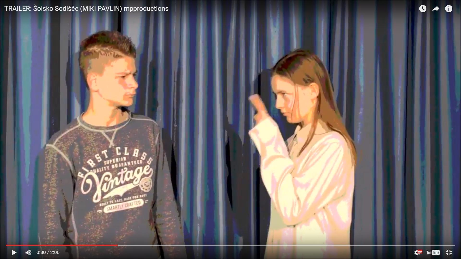 Premiera šolske gledališke predstave šolsko sodišče