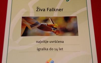 Živi Falkner kar štiri priznanja