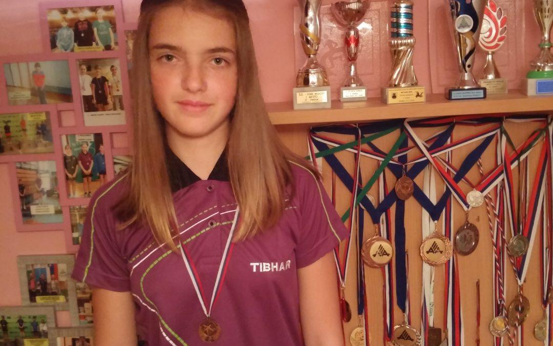 Uvrstitev Kim v finale državnega tekmovanje v namiznem tenisu